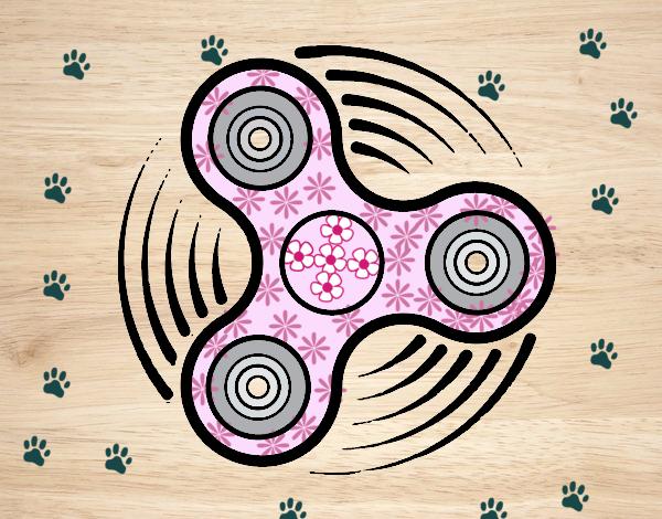 Dibujo Fidget spinner pintado por gatitaYT