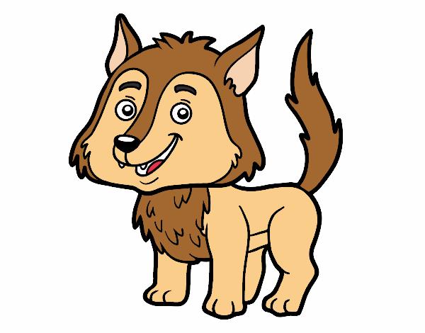 Dibujo Lobo joven pintado por albabm24