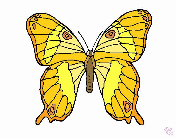 Dibujo Mariposa 7a pintado por EESganer