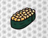Dibujo Niguiri de huevos de salmón pintado por EESganer