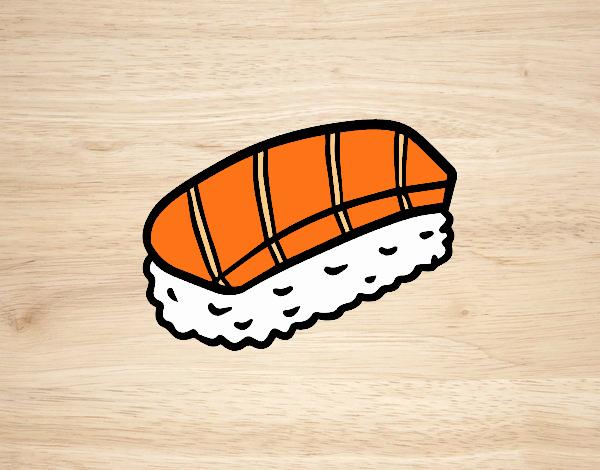 Dibujo Niguiris de salmón pintado por EESganer