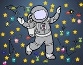 Un astronauta en el espacio estelar