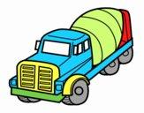Dibujo Camión hormigonera pintado por lesthereri