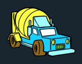 Dibujo Camión malaxador pintado por lesthereri