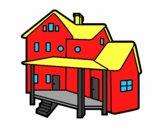 Casa con porche