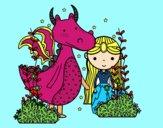 Dragón y princesa