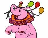 Elefante con 3 globos