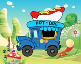 Food truck de perritos calientes