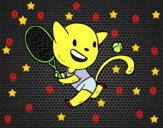Gato tenista