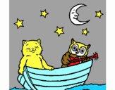 Gato y búho