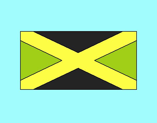 M I DIBUJO SE JAMA JAMAICA Y SU BANDERA