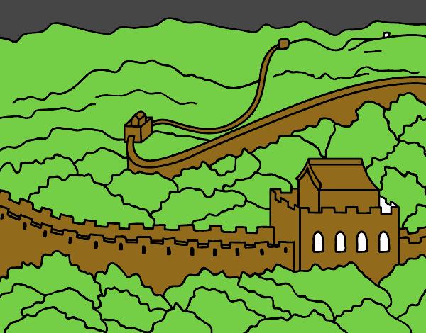 la gran muralla china de noche