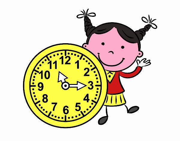 Niña con reloj