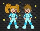 Niños astronautas