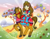 Princesa y corcel