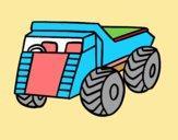 Dibujo Un camión de carga pintado por lesthereri