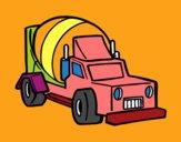 Dibujo Camión malaxador pintado por MAJOMA0812