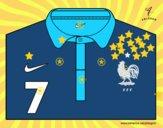 Camiseta del mundial de fútbol 2014 de Francia