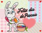 Conejo con muchos huevos de Pascua
