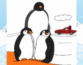 Familia pingüino
