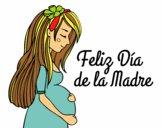 Mamá embarazada en el día de la madre
