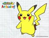 Pikachu saludando