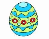 Un huevo de Pascua estampado
