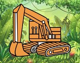 Una excavadora