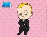 El Bebé Jefazo vestido con traje