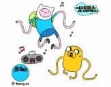 Finn y Jake escuchando música