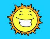 Dibujo Sol sonriendo pintado por camisho