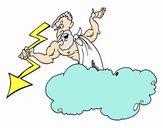 Zeus con un rayo