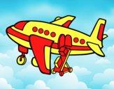 Avión cargando equipaje