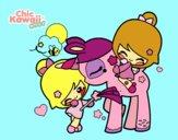 Niñas y Unicornio Kawaii