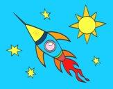 Un cohete aeroespacial