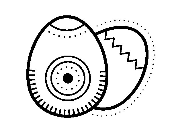 Dibujo de 2 huevos de pascua para Colorear