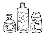 Dibujo de 3 jabones de baño para colorear