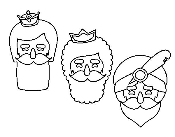 Dibujos Para Colorear De Los Tres Reyes Magos: Dibujo De 3 Reyes Magos Para Colorear