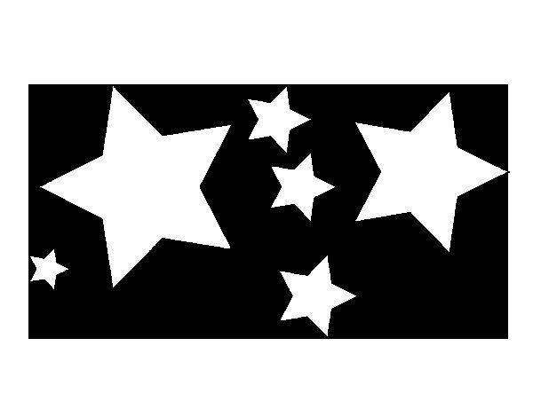 Dibujos De Estrellas Para Colorear E Imprimir: Dibujo De 6 Estrellas Para Colorear