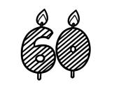 Dibujo de 60 años para colorear