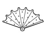 Dibujo de Abanico con topos para colorear