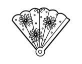 Dibujo de Abanico español para colorear
