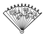 Dibujo de Abanico rococó para colorear
