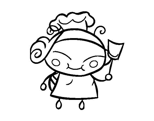 Dibujo de Abeja cocinera para Colorear