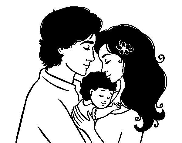 Worksheet. Dibujo de Abrazo familiar para Colorear  Dibujosnet