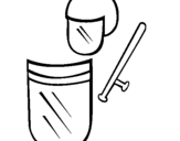 Dibujo de Accesorios antidisturbios para colorear