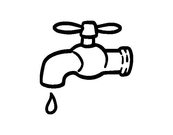 Dibujo de Ahorrar Agua para Colorear