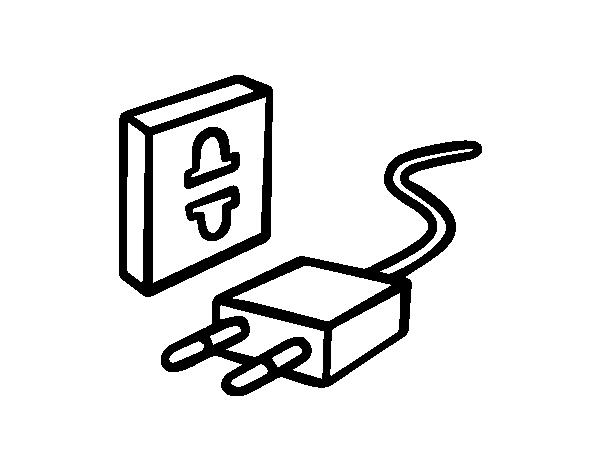 Dibujo de ahorrar electricidad para colorear for Electricidad