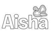 Dibujo de Aisha para colorear