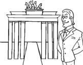 Dibujo de Alemania 1 para colorear